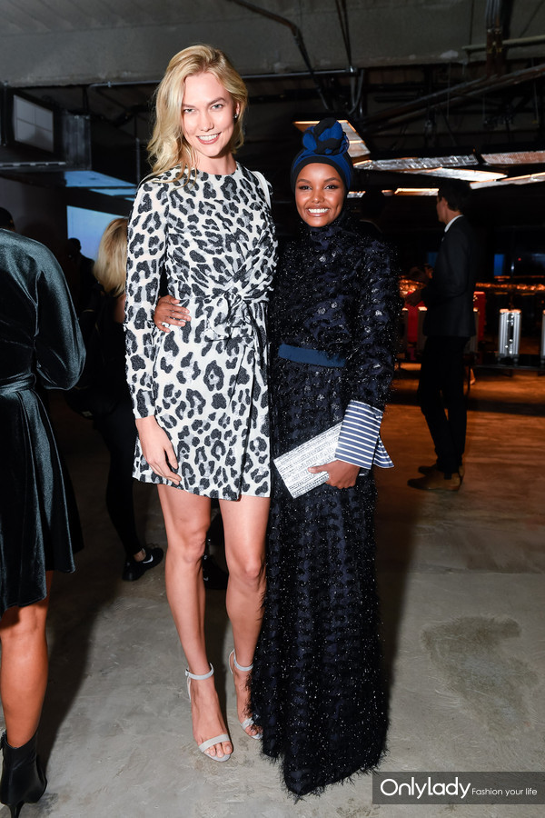 Karlie Kloss and Halima Aden