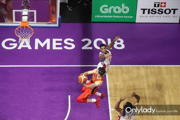 图2:中国男篮在雅加达亚运会中绝杀比赛