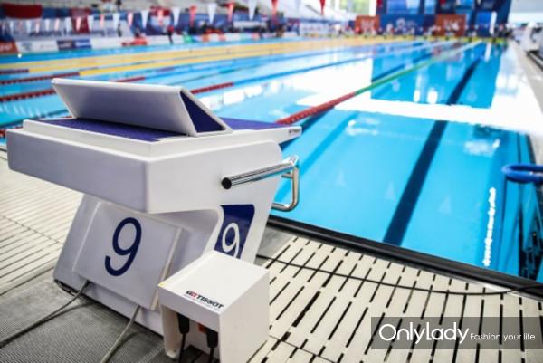 图6:天梭表设于起跳板和泳池两端的压力感应系统精准记录时间