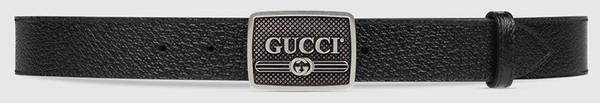 Gucci标识搭扣皮革腰带¥3,250