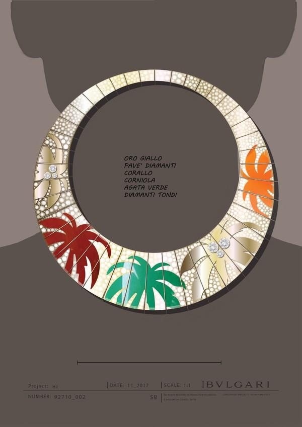 宝格丽Wild Pop高级珠宝系列Palms项链