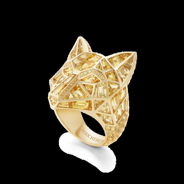 Boucheron宝诗龙Animaux动物系列 Wolf野狼戒指