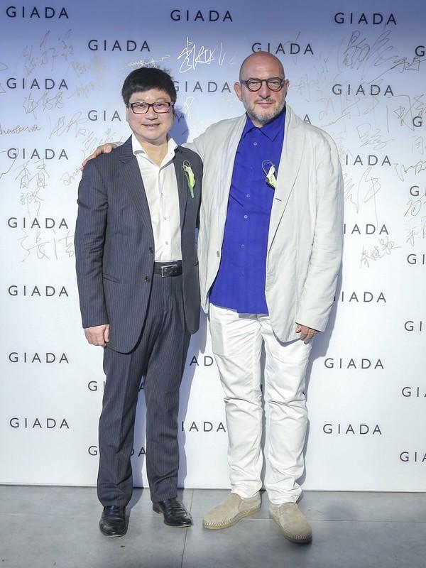GIADA大中华区总经理赵一铮先生与品牌创意总监Gabriele Colangelo先生