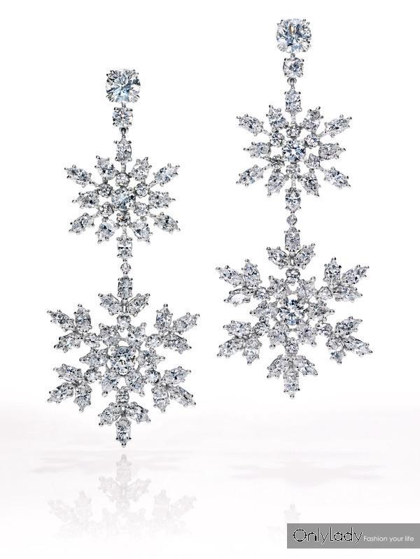 海瑞温斯顿Diamond de Neige缤霜钻石系列耳环