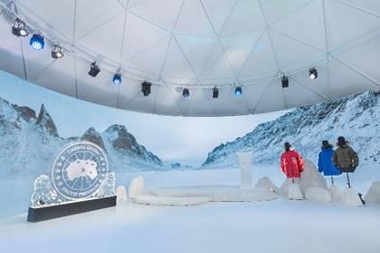 "Canada Goose加拿大鹅 ""暖冬 无境 ""互动体验展活动现场"