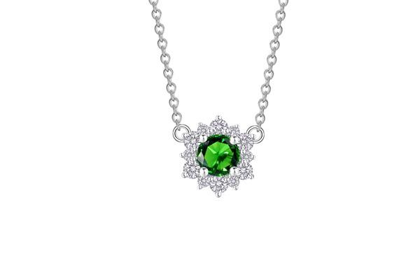 Snowflake雪花系列 18K金镶嵌祖母绿及钻石项链