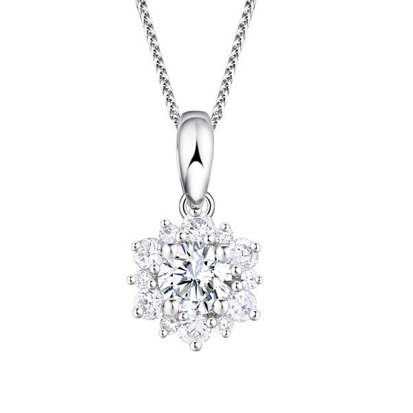Snowflake雪花系列 18K金镶钻石吊坠