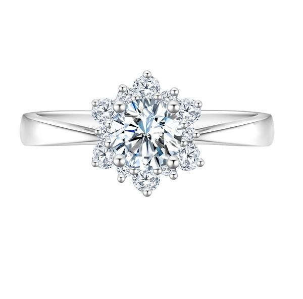 Snowflake雪花系列 18K金镶钻石戒指