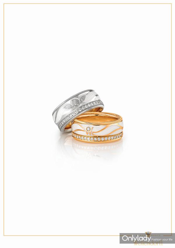 带有守护天使K金微雕图案的华洛芙旋转指环 Keep Me Safe,如同郎朗设计的戒指
