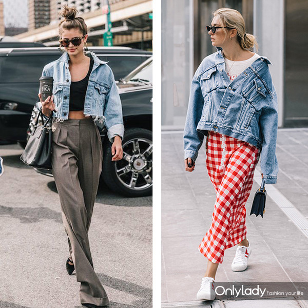 denim jacket street