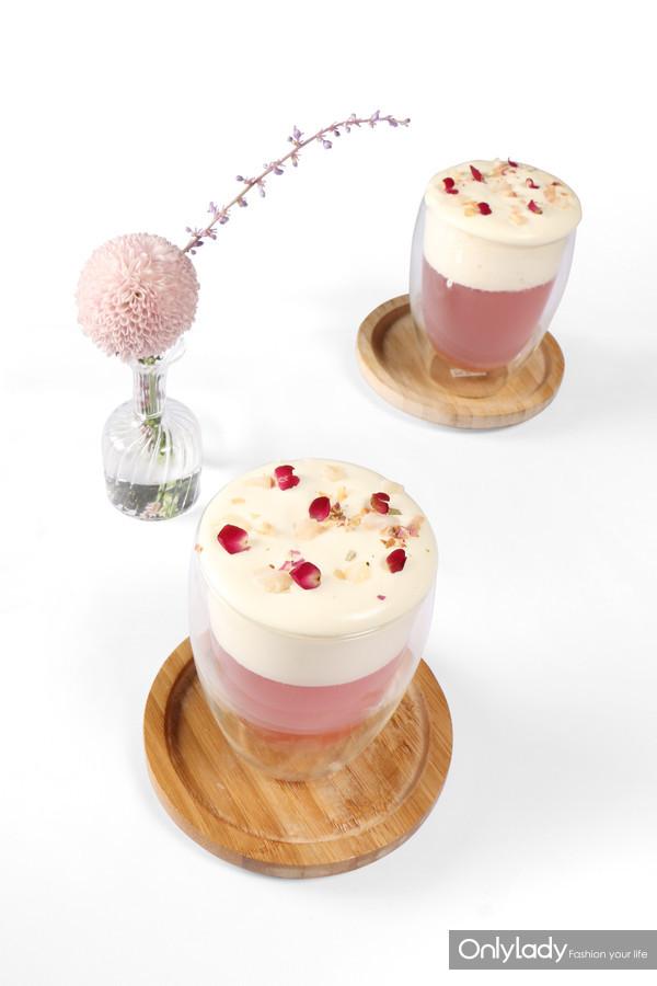 玫瑰荔枝奶盖茶