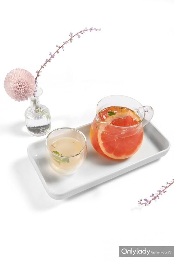 薰衣草柑橘水果涼茶