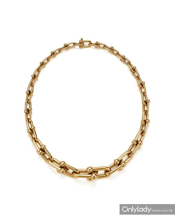 Tiffany & Co. 蒂芙尼HardWear系列18K黄金渐变链环项链