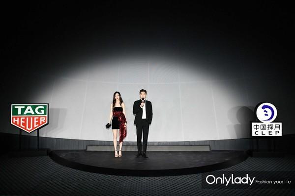 TAG Heuer泰格豪雅品牌大使Angelababy杨颖、李易峰在活动现场