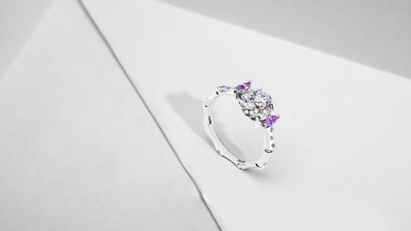配图16-窗格竹节造型订婚戒指