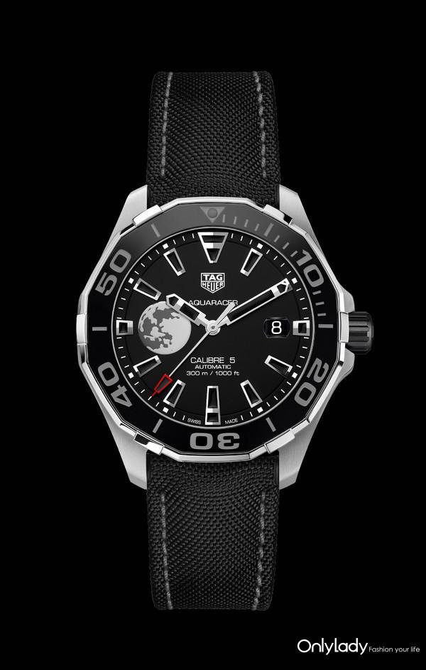 泰格豪雅竞潜系列Calibre 5 CLEP特别款腕表-黑底图