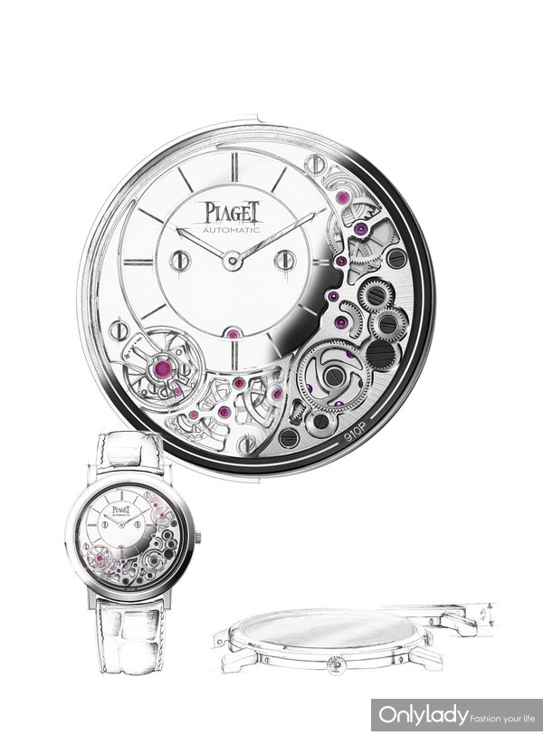 Piaget Altiplano Ultimate 910P手稿图