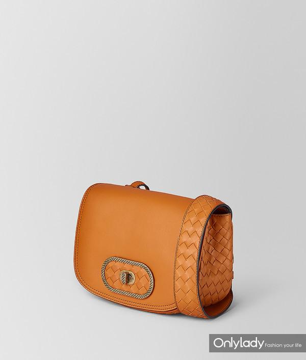 Bottege Veneta 橘色BV Luna手袋 17650元 (2)