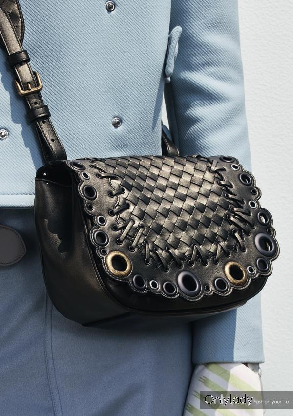 Bottega Veneta 仿古银色Nappa小羊皮BV Luna手袋
