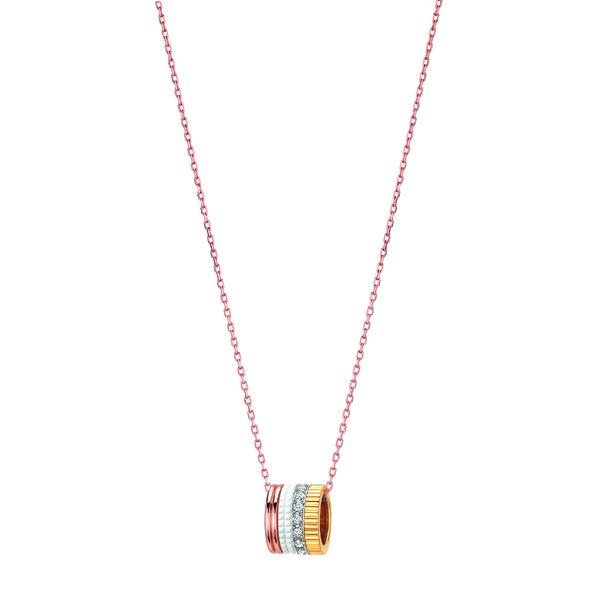 Quatre White Edition-Large necklace diamonds