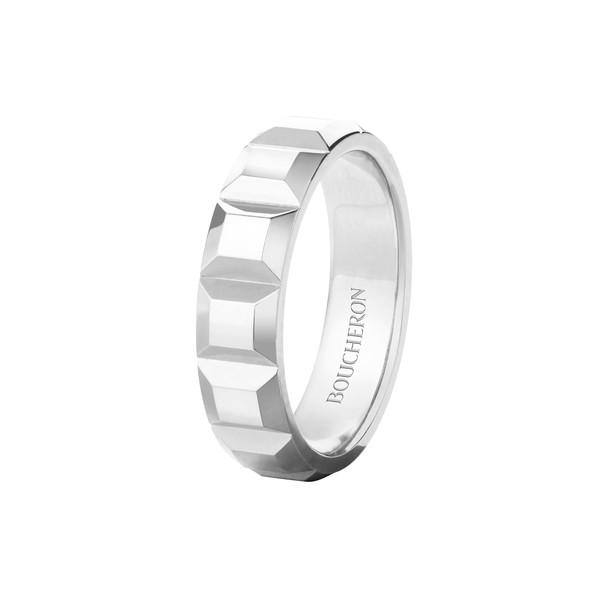 Quatre ring Clou de Paris white gold