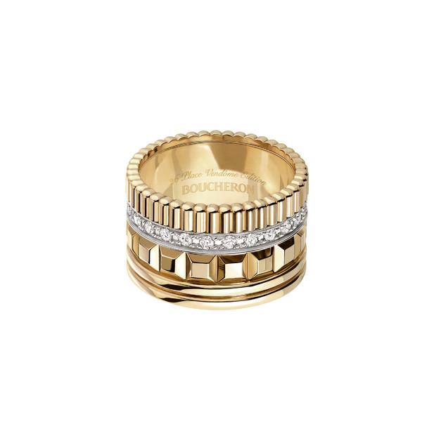Quatre Radiant Edition large ring gold diamonds