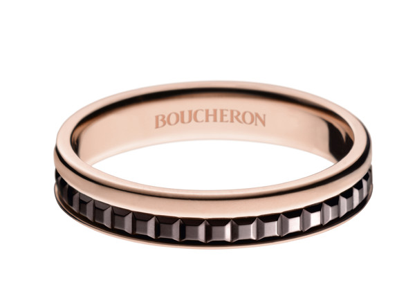 Boucheron Quatre Classique Edition yellow and pink gold wedding band
