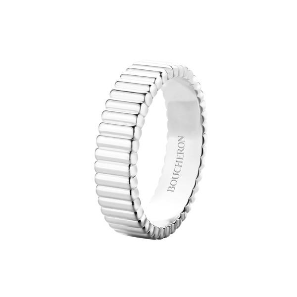 Quatre Ring Grosgrain White Gold