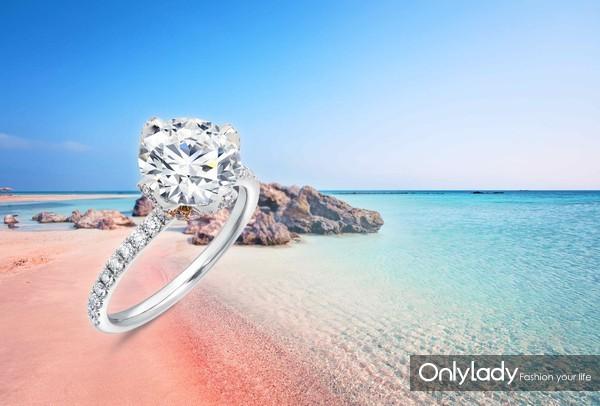 周生生Infini Love Diamond「全爱钻」婚嫁系列铂金钻石及玫瑰金粉红钻石戒指