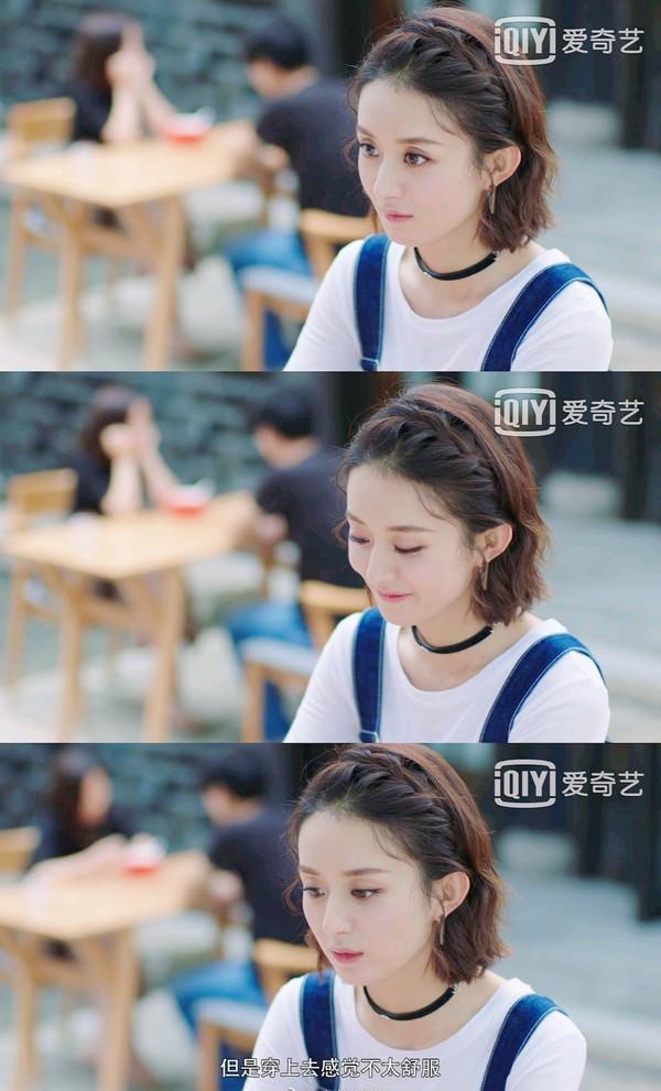 赵丽颖羊毛卷像洋娃娃 31岁看起来依然是明媚少女