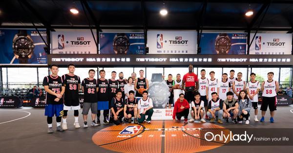 图5:NBA名宿杰梅因·奥尼尔受天梭表邀请执教篮球训练营