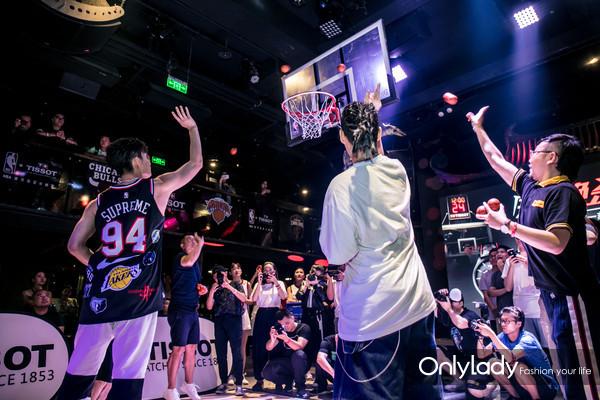 图12:天梭速驰系列NBA球队特别款发布派对