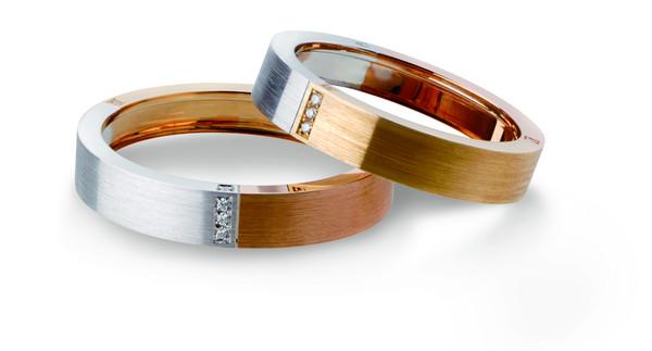 TSL │ Atelier 18K白色黄金玫瑰金镶嵌钻石戒指 参考价格:RMB 7,290