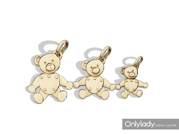 Teddy Bear charms in rose gold by Pomellato