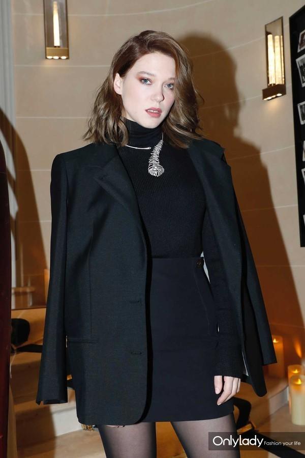 品牌全球代言人Léa Seydoux出席Boucheron宝诗龙全球旗舰店开幕晚宴