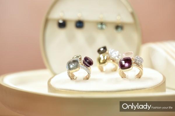 Pomellato Nudo系列戒指与耳环