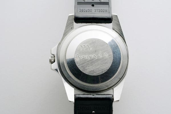 Marlon Brando Rolex GMT caseback engraving 2