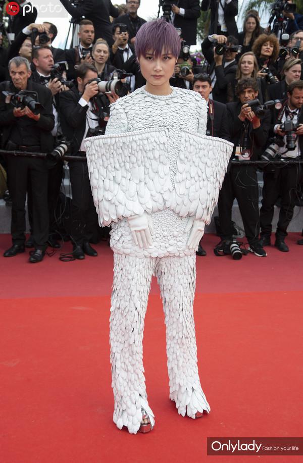 李宇春亮相第72届戛纳国际电影节。
