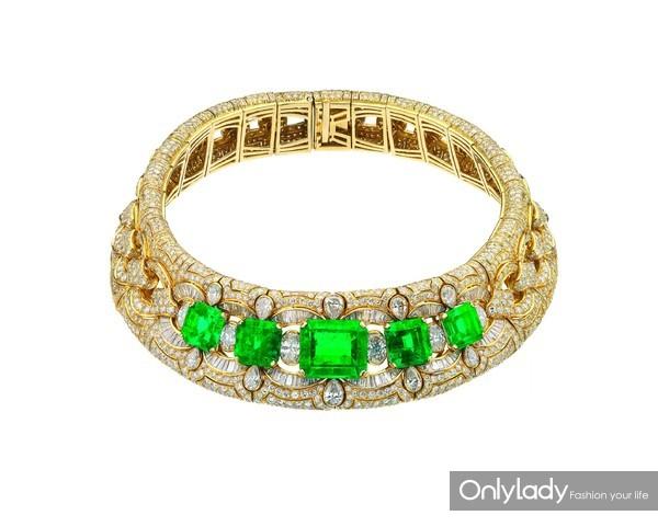 宝格丽古董典藏系列黄金镶祖母绿钻石项链,创作于1989,MUS0210