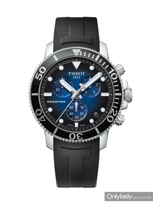 图4:天梭海星潜水1000系列石英款腕表