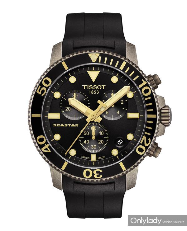 图9:天梭海星潜水1000系列石英款腕表
