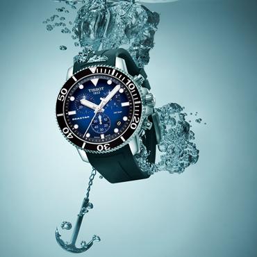 这一刻 潜入深海  天梭海星潜水1000系列石英款腕表
