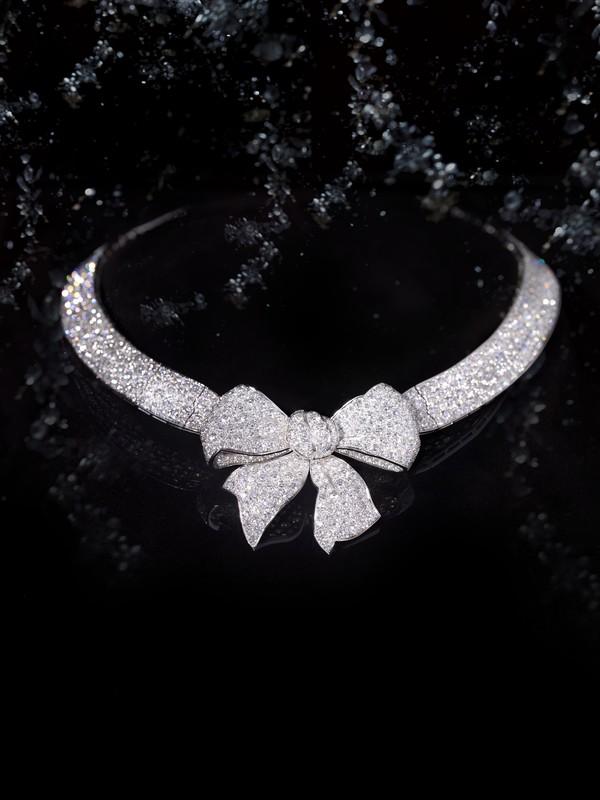 Bijoux de Diamants 复刻版臻品珠宝 蝴蝶结钻石项链reeditions - Ruban necklace