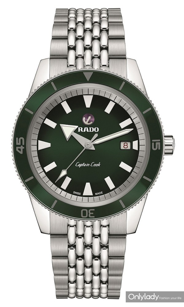 Rado瑞士雷达表Captain Cook库克船长自动机械腕表42毫米绿色表盘款