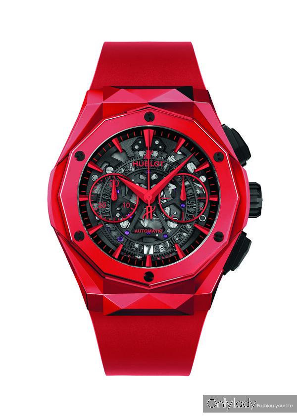 1.HUBLOT宇舶表经典融合系列奥林斯基红色魔力限量版腕表