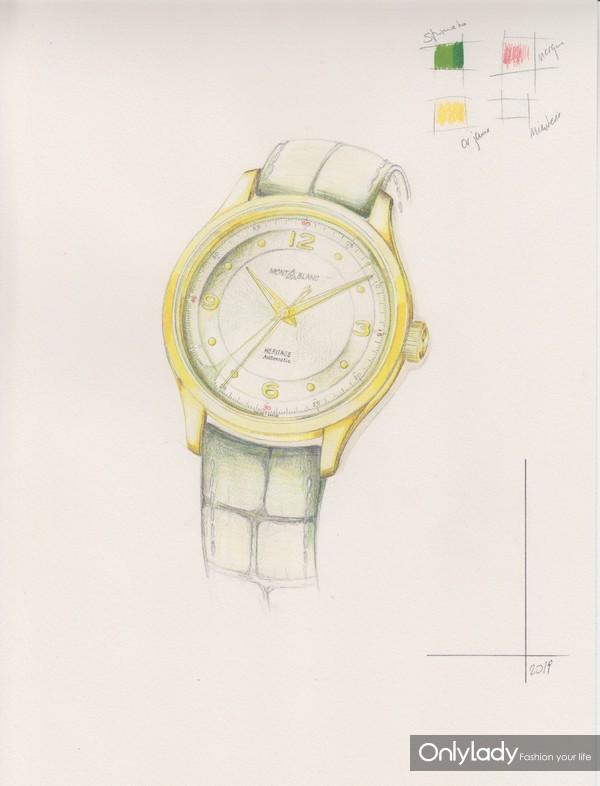 万宝龙全新传承系列自动上链腕表设计图
