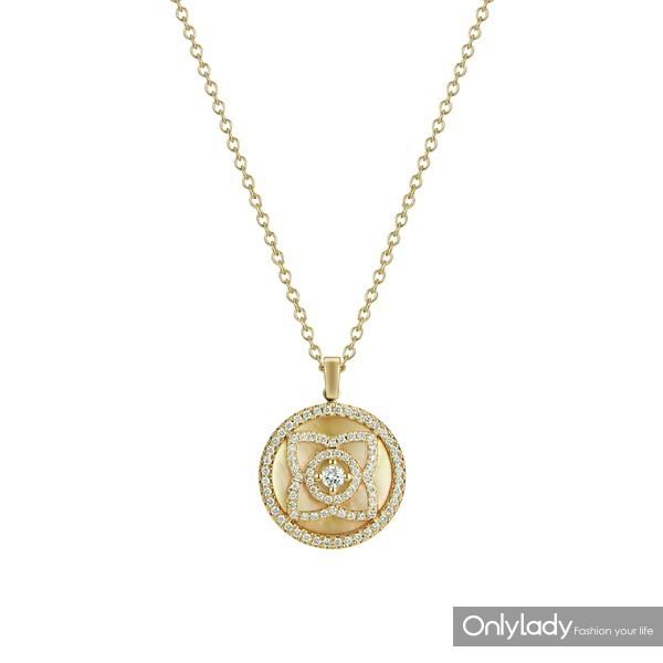 De Beers戴比尔斯黄金珍珠母贝项链 (2)