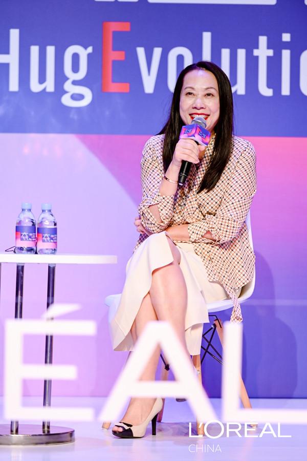 【图片】欧莱雅中国副总裁兰珍珍参与群访问答