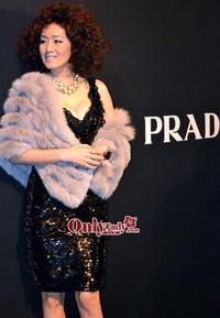 巩俐柏芝惊艳亮相PRADA北京大秀红毯