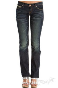 阿玛尼A/X显瘦修身牛仔裤